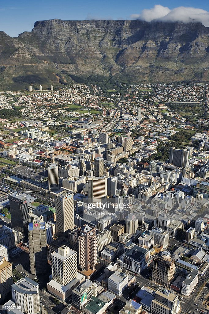 South Africa, Cape Town, aerial view : Stock Photo
