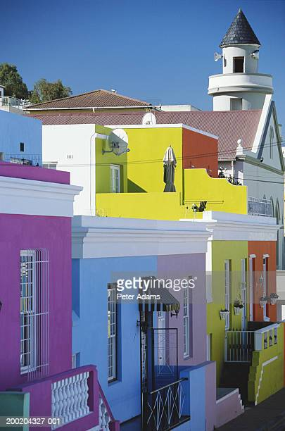 South Africa, Cape Town, Bo Kaap, brightly coloured houses