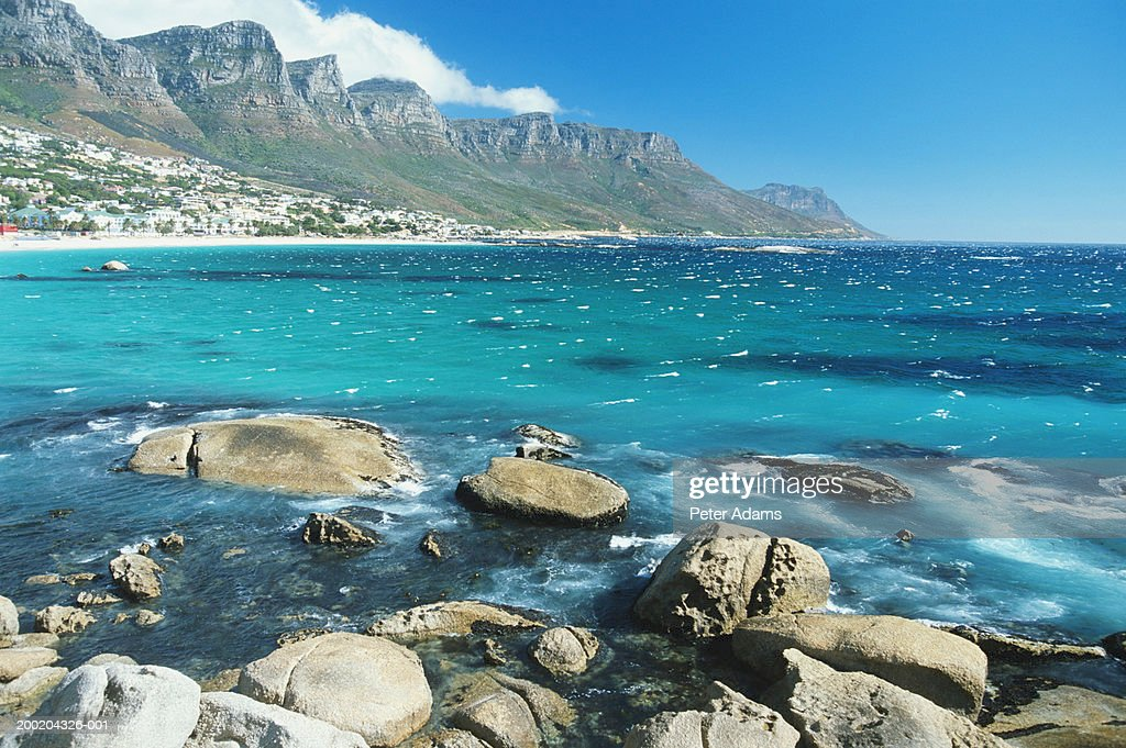 South Africa, Cape Town, Clifton District overlooking ocean