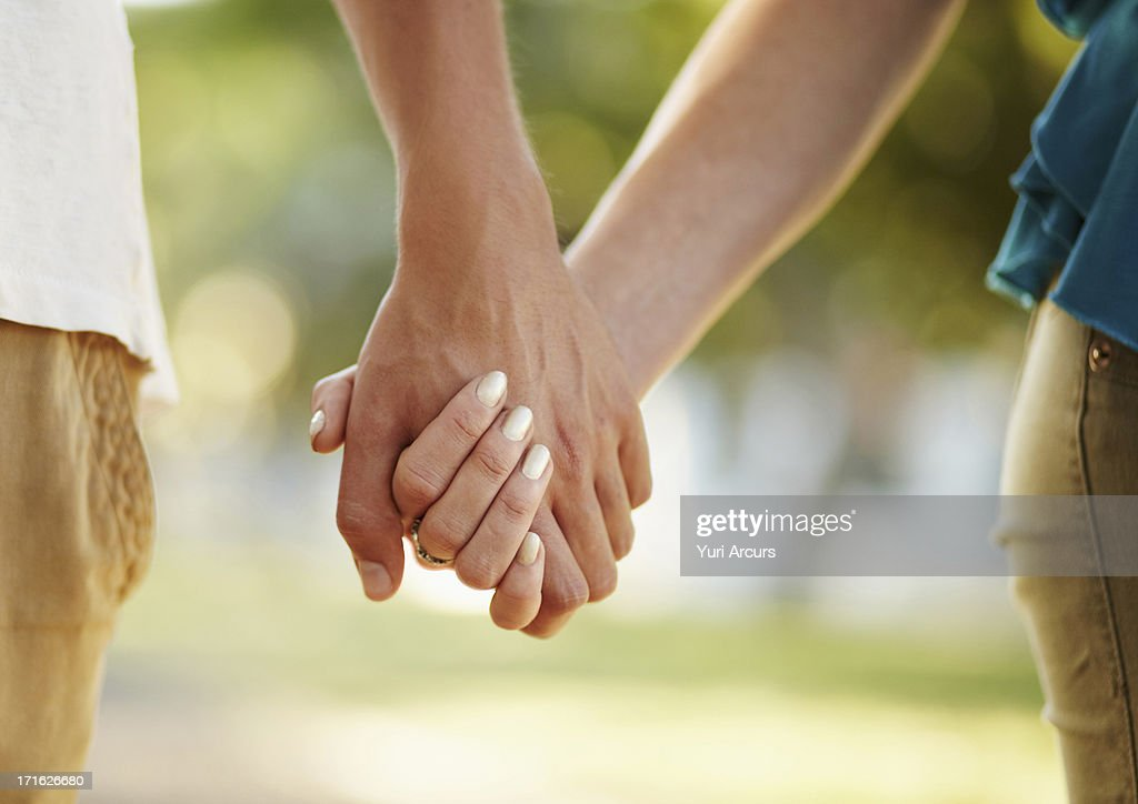 South Africa, Cape Town, Couple holding hands : Stock Photo