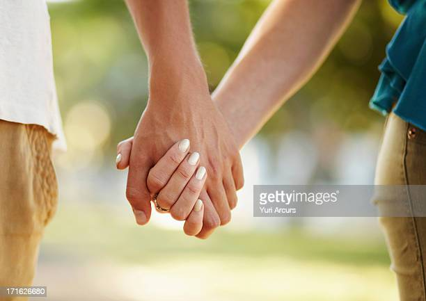 South Africa, Cape Town, Couple holding hands