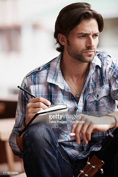 South Africa, Cape Town, Man doing notes