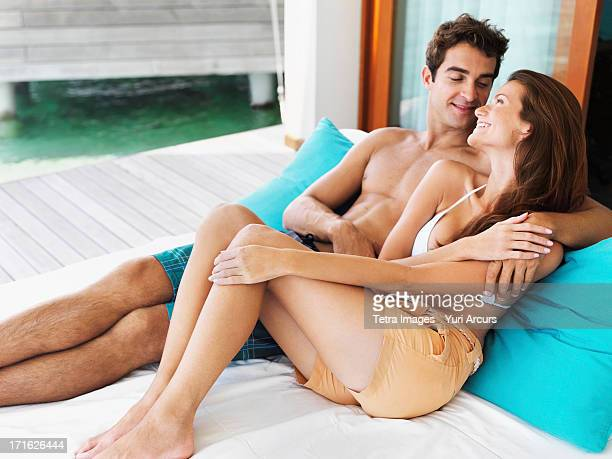 South Africa, Cape Town, Portrait of couple relaxing