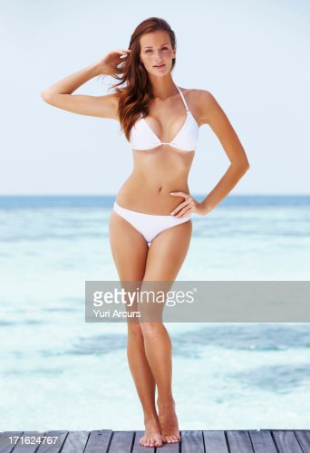 South Africa, Cape Town, Portrait of young woman in bikini