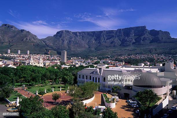South Africa Cape Town View Of South African Museum Table Mountain In Background