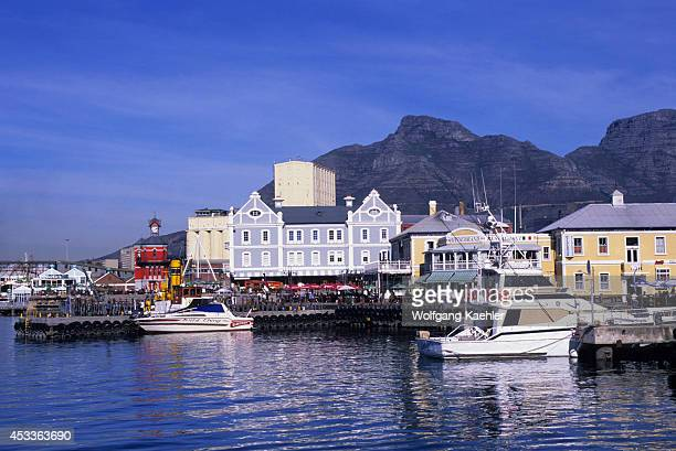 South Africa Cape Town Waterfront Center Table Mountain In Background