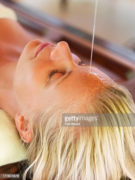 South Africa, Cape Town, Woman getting aromatherapy in spa
