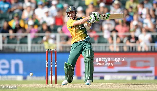 South Africa captain AB de Villiers bats during the 2nd KFC T20 International match between South Africa and England at Bidvest Wanderers Stadium on...