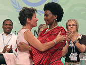 DURBAN South Africa Christiana Figueres executive secretary of the UN Framework Convention on Climate Change and South African foreign minister Maite...