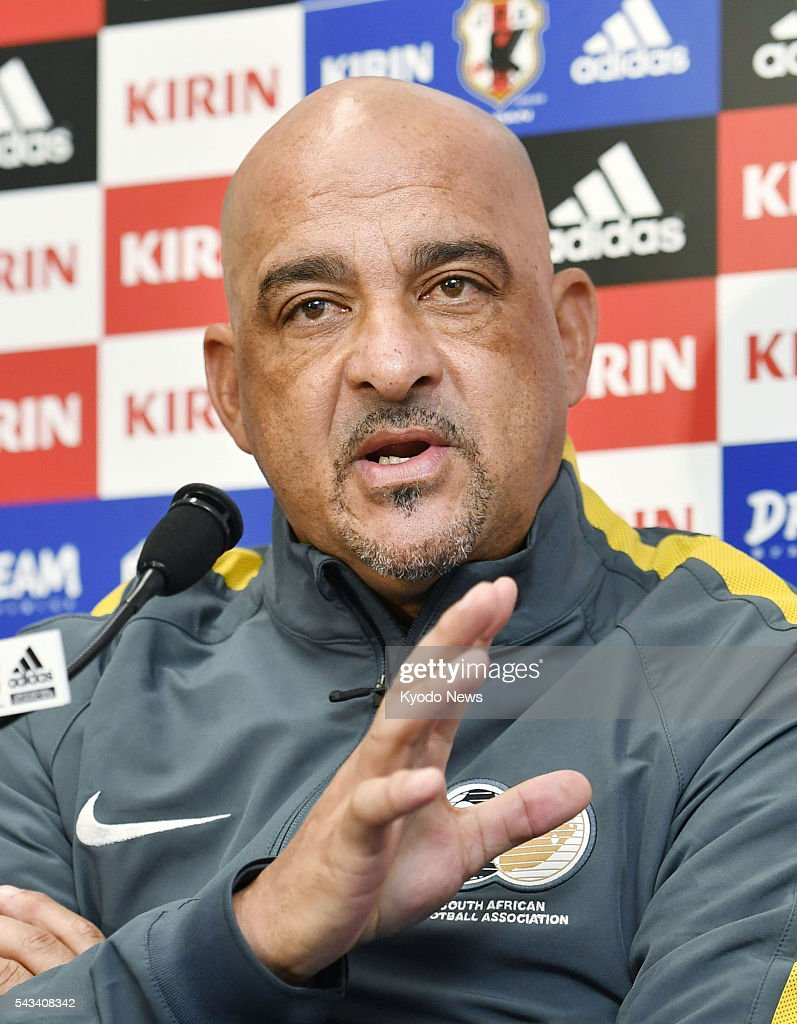 South Africa coach Owen Da Gama attends a press conference in the central Japan city of Matsumoto on June 28, 2016, ahead of a friendly against Japan the next day. 'I think our team is ready now,' Da Gama said.