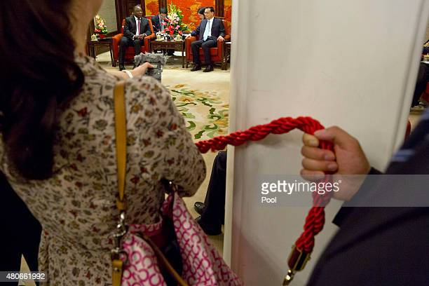 South Africa Deputy President Cyril Ramaphosa attends a meeting with Chinese Premier Li Keqiang at the Zhongnanhai leadership compound July 14 2015...