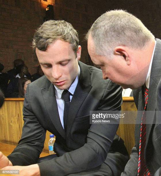 PRETORIA South Africa Doubleamputee sprinter Oscar Pistorius is pictured before a preliminary hearing at a court in Pretoria South Africa on Aug 19...