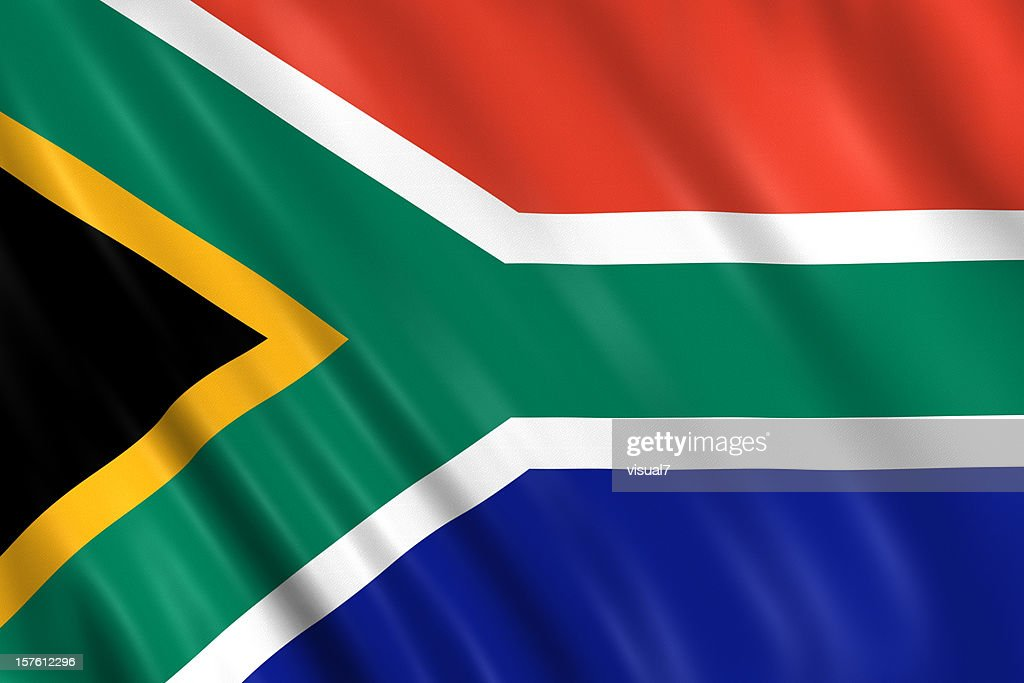 south africa flag : Stock Photo