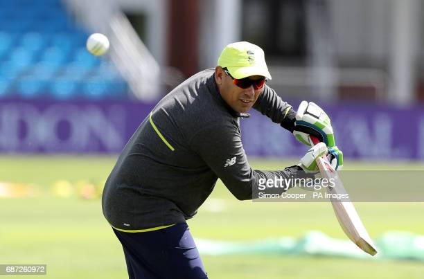 South Africa head coach Russell Domingo during the nets session at Headingley Leeds
