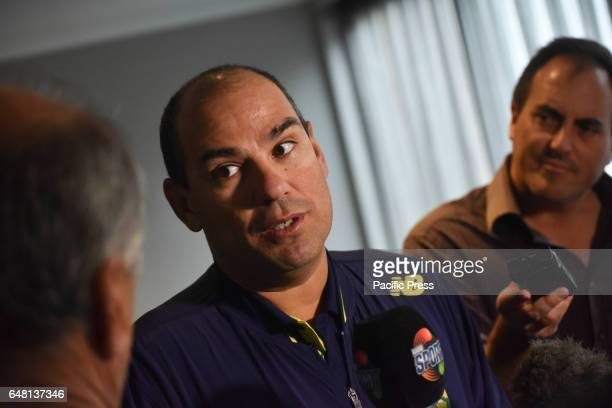 South Africa head coach Russell Domingo speaks to the media following his team's losing over South Africa at One Day International Cricket final...