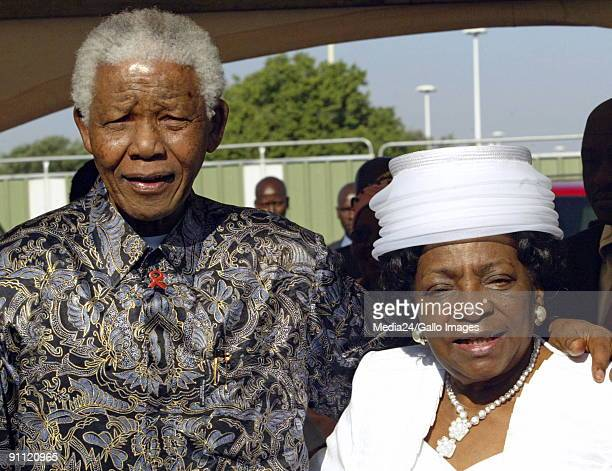 South Africa Johannesburg Adelaide Tambo with Nelson Mandela at the renaming of Johannesburg International Airport to OR Tambo International Airport