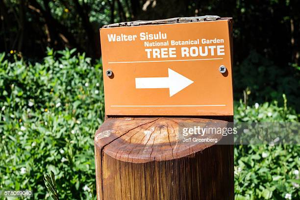 South Africa Johannesburg Roodepoort Walter Sisulu National Botanical Garden Witwatersrand sign tree route