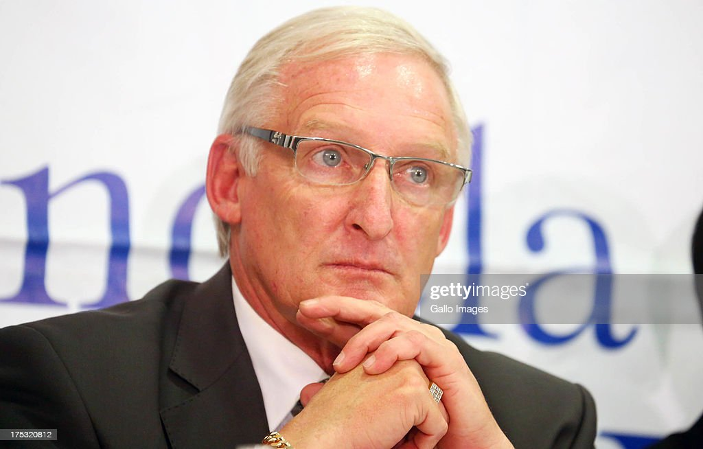 South Africa nation team manager <a gi-track='captionPersonalityLinkClicked' href=/galleries/search?phrase=Gordon+Igesund&family=editorial&specificpeople=3647587 ng-click='$event.stopPropagation()'>Gordon Igesund</a> attends the Nelson Mandela Challenge press conference from Moses Mabhida Stadium on July 31, 2013 in Durban, South Africa.