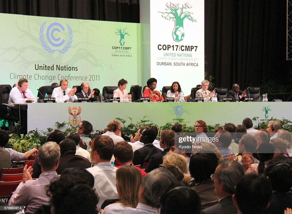 DURBAN South Africa Participants applaud as the UN climate talks reach an accord in Durban South Africa in the early hours of Dec 11 2011 The 17th...