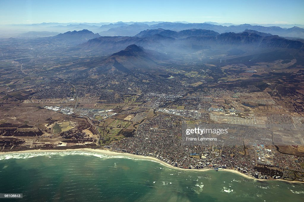 South Africa, Strand, aerial : Stock Photo