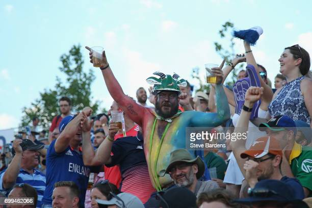 South Africa supporters enjoy the atmosphere during the 1st NatWest T20 International match between England and South Africa at Ageas Bowl on June 21...