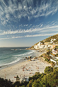 South Africa, Western Cape, Clifton beach, elevated view