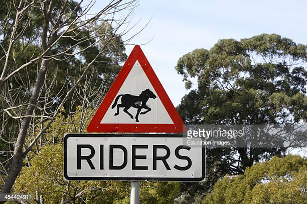 South Africa Western Cape Province Road Signs In Klein Constantia A District Of Cape Town Sign Warning Of Horses Crossing