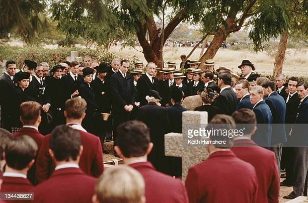 South African actor Marius Weyers as Professor Daniel Marais of National Party attending his daughter's funeral in a scene from the film 'The Power...