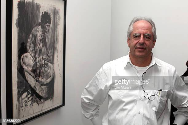 South African artist William Kentridge is seen during an opening of his exhibition at the Israeli museum on March 06 2011 in Jerusalem Israel