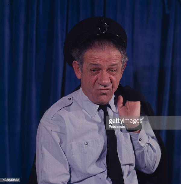 South African born actor Sid James pictured in character as 'George Russell' from the television series 'George And The Dragon' in 1966