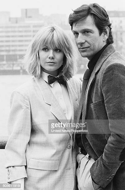 South African born actress Glynis Barber and American actor Michael Brandon from the television police drama series Dempsey and Makepiece posed...