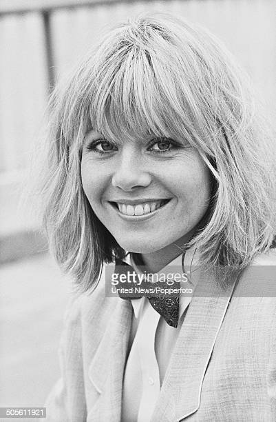 South African born actress Glynis Barber from the television police drama series Dempsey and Makepiece posed wearing a bow tie in London on 28th...
