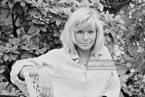 South African born actress Glynis Barber known for her role as Sgt Harriet Makepeace in the television series 'Dempsey and Makepeace' posed in London...