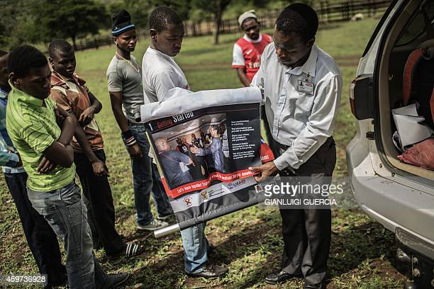 South African boys from a rural area in the KwaZulu Natal province are briefed by an health worker from Doctors Without Borders before undergoing...
