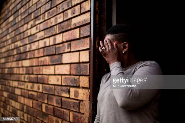 South African chef Nthabiseng Mabuza 35 years old stands outside her home on July 7 in Vosloorus a middleclass township east of Johannesburg after...