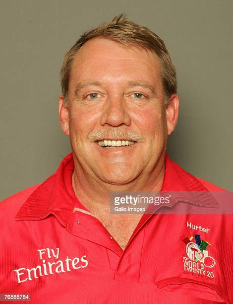 South African cricket umpire Karl Hurter poses during the ICC Twenty20 World Cup portrait session on September 7 2007 in Johannesburg South Africa