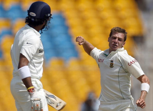 South African cricketer Dale Steyn (R) c : News Photo