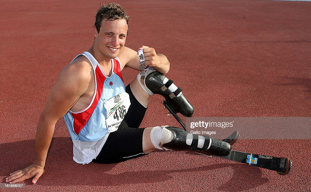 South African double amputee, world record breaking disabled athlete, <a gi-track='captionPersonalityLinkClicked' href=/galleries/search?phrase=Oscar+Pistorius&family=editorial&specificpeople=224406 ng-click='$event.stopPropagation()'>Oscar Pistorius</a> on March 17, 2007, in South Africa.