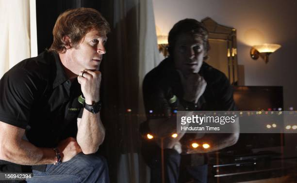 South African Excricketer Jonty Rhodes poses on November 10 2012 in Mumbai India