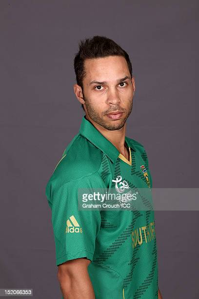 South African Farhaan Behardien poses at a portrait session ahead of the ICC T20 World Cup on September 16 2012 in Colombo Sri Lanka