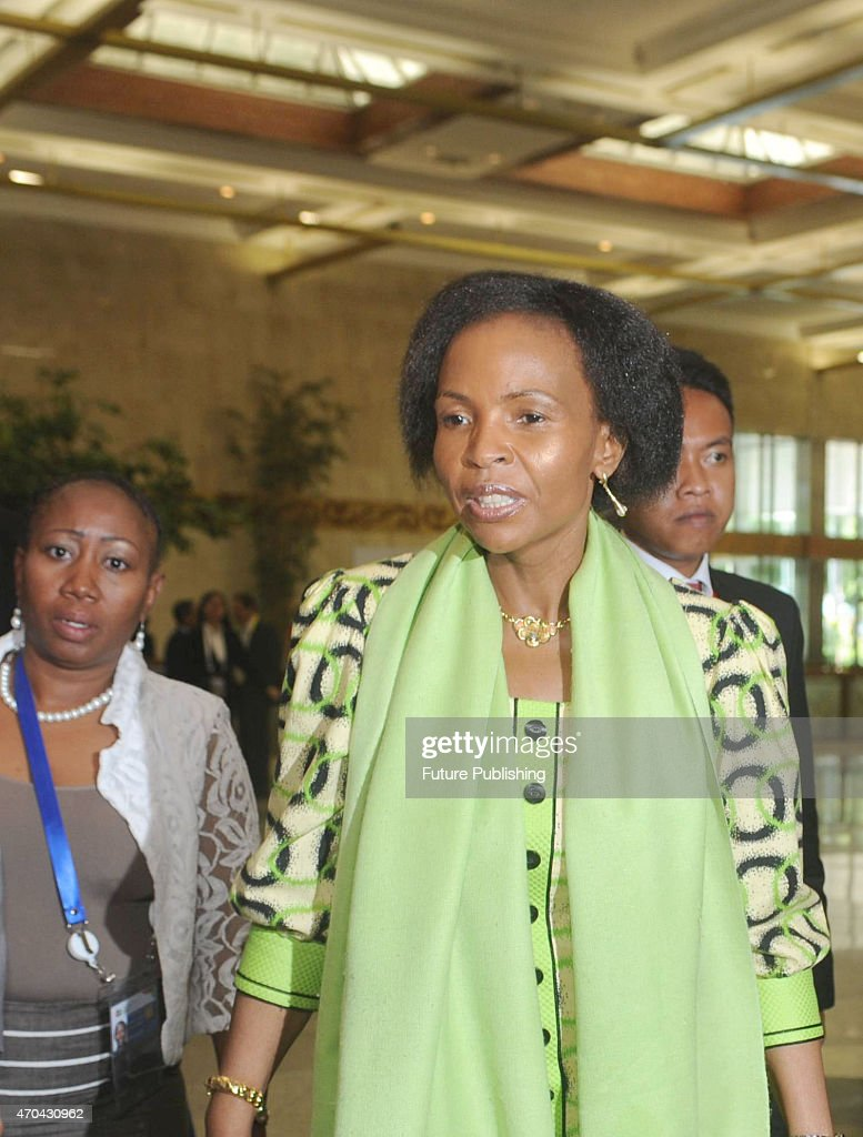 South African Foreign Minister <a gi-track='captionPersonalityLinkClicked' href=/galleries/search?phrase=Maite+Nkoana-Mashabane&family=editorial&specificpeople=3056332 ng-click='$event.stopPropagation()'>Maite Nkoana-Mashabane</a> seen walking towards the meeting room during the 60th Asia-African Conference on April 20, 2015 in Jakarta, Indonesia. The 60th Asian-African Conference began on 19 April in Jakarta and Bandung. Jefta Images / Barcroft Media