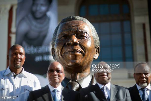 South African former president Nelson Mandela's grandson Mandla Mandela South African president Jacob Zuma Chaiman of the National Council of...