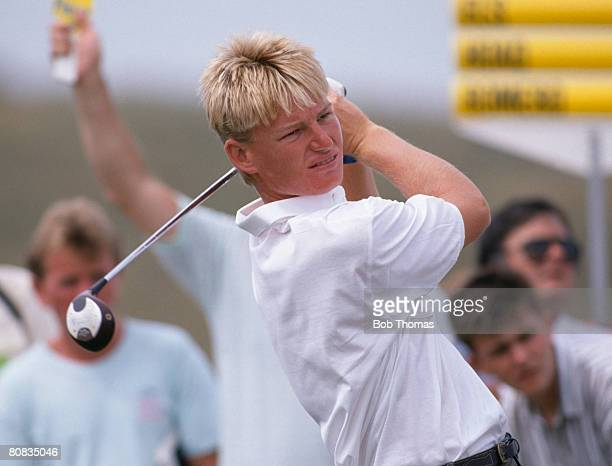 South African golfer Ernie Els during the British Open Golf Championship held at Royal Troon Scotland between the 20th 23rd July 1989