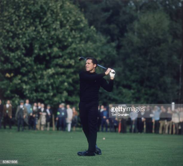 South African golfer Gary Player in the finals of the Piccadilly Match Play Championship at Wentworth Surrey