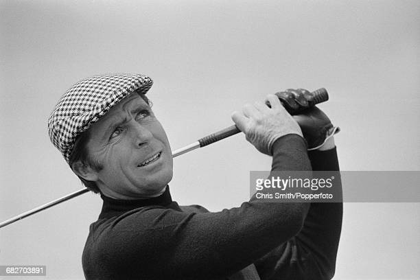South African golfer Gary Player pictured during action to win the 1974 Open Championship at Royal Lytham St Annes Golf Club in Lancashire England in...