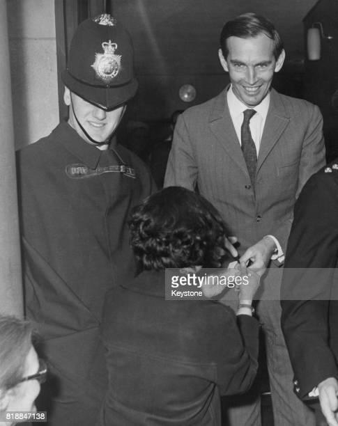 South African heart surgeon Dr Christiaan Barnard at the National Heart Hospital circa 1968