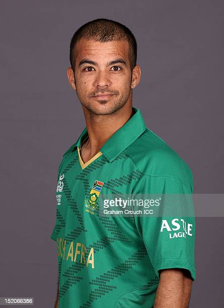 South African JeanPaul Duminy poses at a portrait session ahead of the ICC T20 World Cup on September 16 2012 in Colombo Sri Lanka