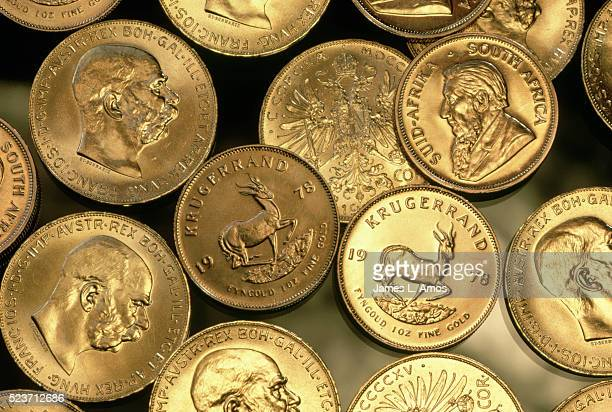 South African Krugerrands and Austrian Gold Coins