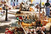 An outdoor South African market.
