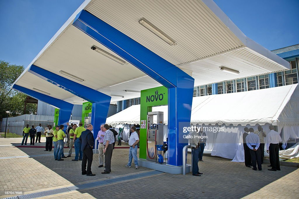 South African MEC for Roads and Transport Ismail Vadi at the opening of South Africa's first commercial compressed natural gas fuelling station on...